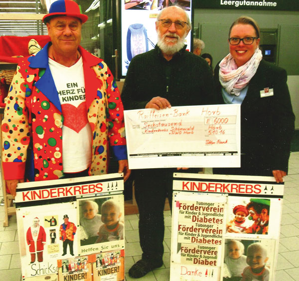 Viktor Rank hat Spenden gesammelt